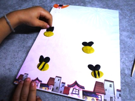 Bee arts and crafts - bee crafts for preschool (5)