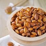 Honey roasted almonds - easy dessert ideas