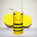 Bee craft projects with toilet paper rolls